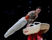 23.03.2019. Resorts World Arena, Birmingham, England. The Gymnastics World Cup 2019Bart DEURLOO (NED)  in the Mens Pommel