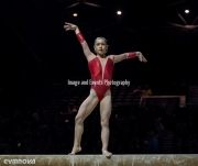 22.03.2019. Resorts World Arena, Birmingham, England. The Gymnastics World Cup 2019Carolann HEDUIT (FRA) during the Womens beam.