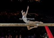 22.03.2019. Resorts World Arena, Birmingham, England. The Gymnastics World Cup 2019LIU JIEYU (CHN) during the Womens beam.