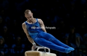23.03.2019. Resorts World Arena, Birmingham, England. The Gymnastics World Cup 2019Petro PAKHNIUK (UKN)  in the Mens Pommel
