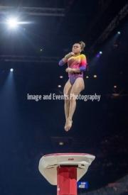 22.03.2019. Resorts World Arena, Birmingham, England. The Gymnastics World Cup 2019THAIS FIDELIS (BRA) during the Womens Vault.