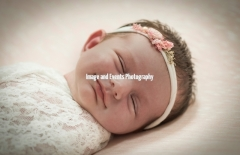 Smiling Newboen baby girl