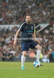 Manchester, England.10th June,2018.Lee Mack during the Soccer Aid charity football match between an England X1 and a World X1. Each team of A-list celebrities and Sporting legends are fundraising for UNICEF.© Andy Gutteridge/ Image and Events/ Alamy Live News