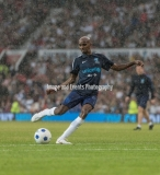 Manchester, England.10th June,2018.Sir Mo Farah in actionduring the Soccer Aid charity football match between an England X1 and a World X1. Each team of A-list celebrities and Sporting legends are fundraising for UNICEF.© Andy Gutteridge/ Image and Events/ Alamy Live News