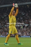 Manchester, England.10th June,2018.David Seamanduring the Soccer Aid charity football match between an England X1 and a World X1. Each team of A-list celebrities and Sporting legends are fundraising for UNICEF.© Andy Gutteridge/ Image and Events/ Alamy Live News