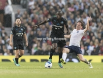Manchester, England.10th June,2018.Blurb about image and subjects.....during the Soccer Aid charity football match between an England X1 and a World X1. Each team of A-list celebrities and Sporting legends are fundraising for UNICEF.© Andy Gutteridge/ Image and Events/ Alamy Live News