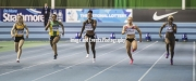 11.02.2017. EIS, Sheffield, England. The British Athletics Indoor team trials 2017. Shara Proctor, Charlotte Orton, Emma Suhonen, Daniella Blake and Rachel Highfield compete in heat 2 of the Womens 60 Meters.