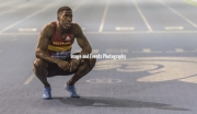 11.02.2017. EIS, Sheffield, England. The British Athletics Indoor team trials 2017. Dwain Chambers after finishing in third place in the Mens 60 Meters Final