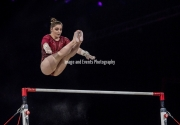 22.03.2019. Resorts World Arena, Birmingham, England. The Gymnastics World Cup 2019Aliya MUSTAFINA (RUS) during the Womens uneven bars.