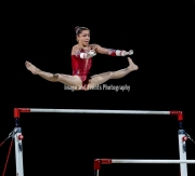 22.03.2019. Resorts World Arena, Birmingham, England. The Gymnastics World Cup 2019Carolann HEDUIT (FRA) during the Womens uneven bars with a score of 13.90