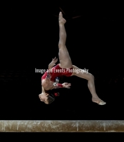 23.03.2019. Resorts World Arena, Birmingham, England. The Gymnastics World Cup 2019Carolann HEDUIT (FRA) during the Womens beam rotation with a score of 11.666