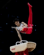 23.03.2019. Resorts World Arena, Birmingham, England. The Gymnastics World Cup 2019KAYA KAZUMA (JPN)  in the Mens Pommel