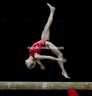 22.03.2019. Resorts World Arena, Birmingham, England. The Gymnastics World Cup 2019Riley McCusker (USA) during the Womens training session.