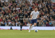 Manchester, England.10th June,2018.Jamie Rednapp in actionduring the Soccer Aid charity football match between an England X1 and a World X1. Each team of A-list celebrities and Sporting legends are fundraising for UNICEF.© Andy Gutteridge/ Image and Events/ Alamy Live News